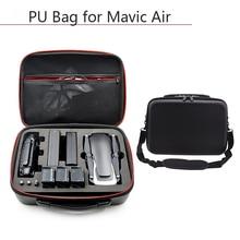 Drone กระเป๋าถือ PU กันน้ำฝุ่นกระเป๋าถือกระเป๋ากล่องป้องกันสำหรับ DJI Mavic Air Controller อุปกรณ์เสริม