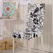 цена на Pastoral Style Dining Chairs Cover High Elastic Spandex Chairs Seat Covers Slipcovers For Party Banquet Decor housse de chaise
