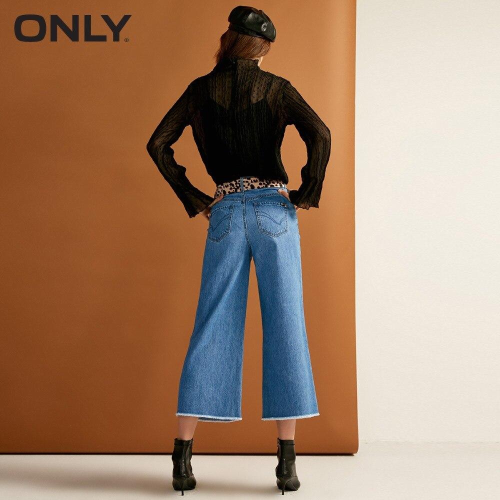 Las Pantalones 810jeans Blue Cintura Crudo Otoño Mujeres Borde De Pierna 118332518 Ancho Blue La Nueva Vaqueros Alta 350jeans Sólo RqnZdgaWd
