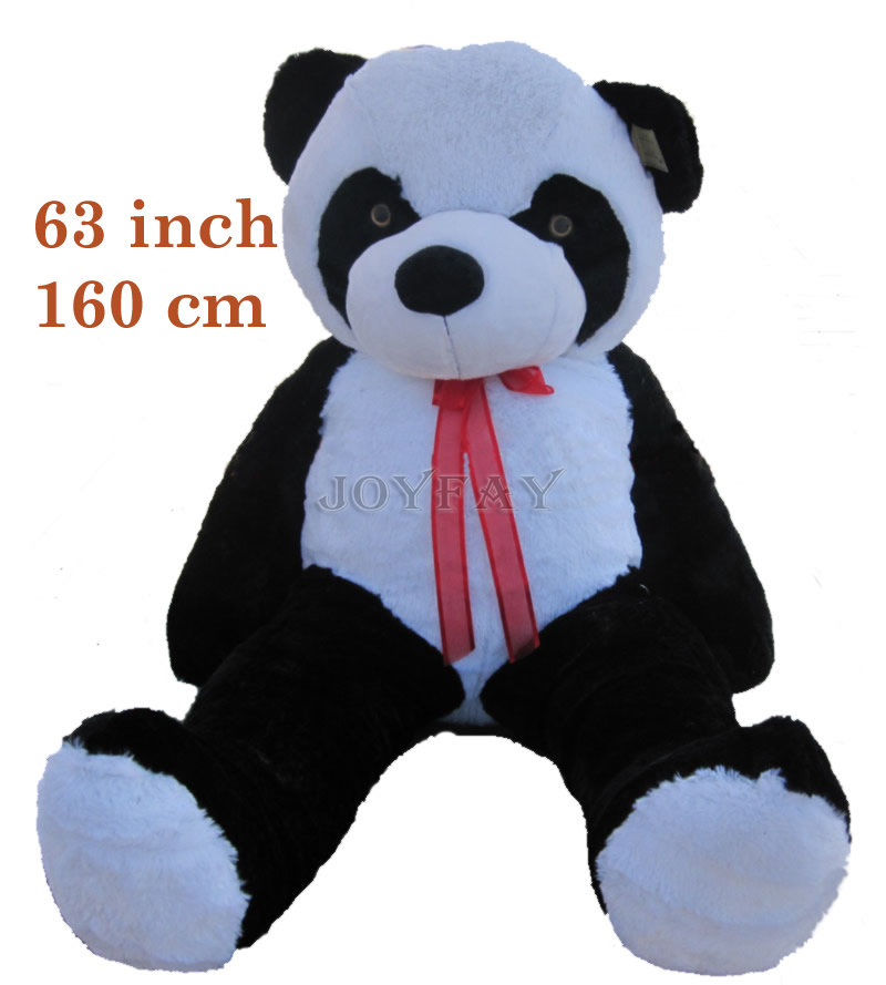 Joyfay Giant 160 cm Giant Panda Bear Stuffed  Animal Plush Toy  63'' 63 inch Panda Bear Best gift for Birthday Valentine ezcap 280 hd game capture hd video capture module 1080p hdmi ypbpr recorder ezcap280 for wii xbox 360 ps4 ps4 dvd video camera