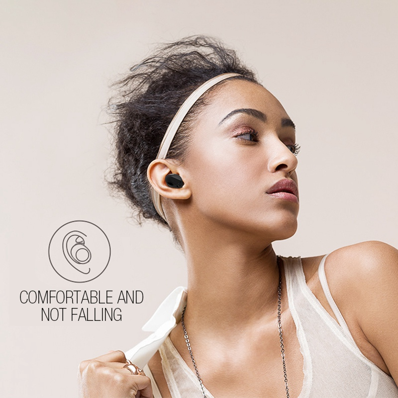 TOMKAS Bluetooth Earphone TWS Earbuds Wireless Bluetooth Earphones Stereo V4.2 Bluetooth Earphone With HD Mic and Charge Box