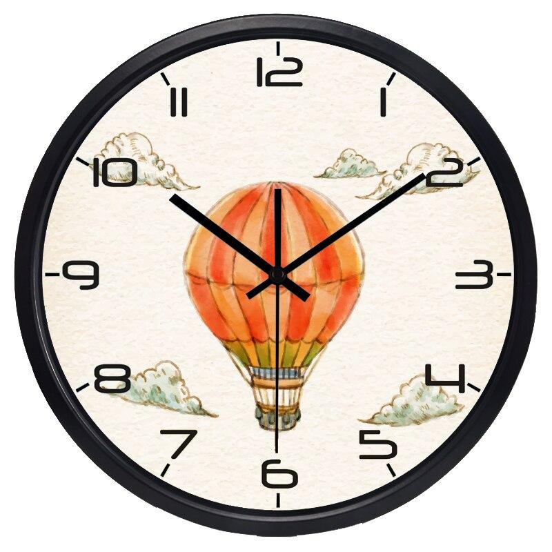 US $29.64 22% OFF|Retro Ballon Wanduhr Kinderzimmer Bunte Marke Studie  Zimmer Originalität Farbe römischen Uhr in Retro Ballon Wanduhr  Kinderzimmer ...