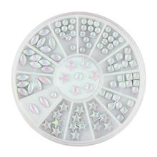 Color AB Round Square Pentagram Marquise 3D Rhinestones Nail Art Supplies Glitter