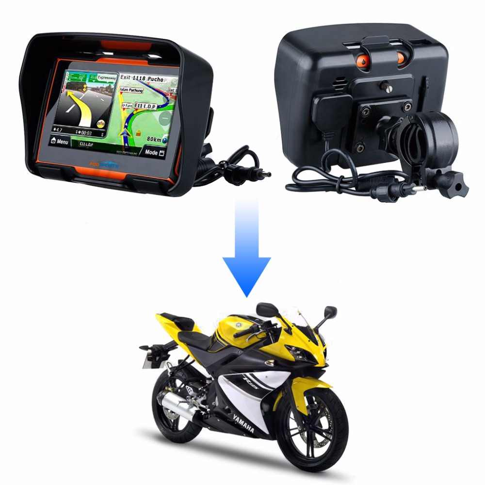 Fodsports 4 3 Inch motorcycle navigation bluetooth motorbike GPS navigator  waterproof 256MB 8GB IPX7 free install maps