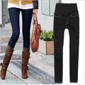 Trendy women Elastic Jeans Pencil Pants Maternity Trousers For Pregnant