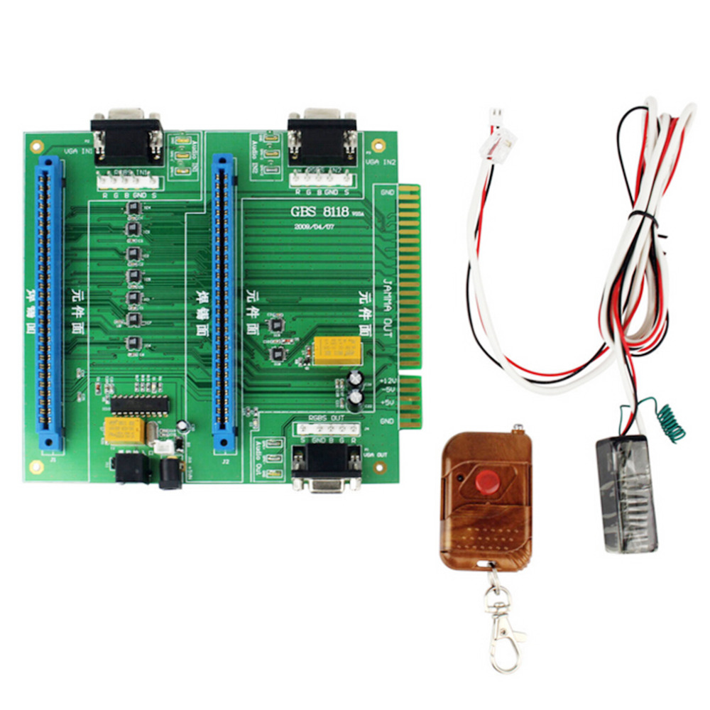 ФОТО Hot New GBS-8118 Arcade Game 2in1 JAMMA Switcher PCB Remote Control & Receiver