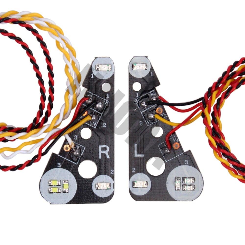 INJORA Grupo de Luces Delanteras y traseras con Sistema de luz LED para 1//10 RC Traxxas TRX4 Bronco 82046-4