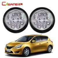 Cawanerl 2 X Car Front Fog Light LED Light Daytime Running Light DRL DC For Nissan