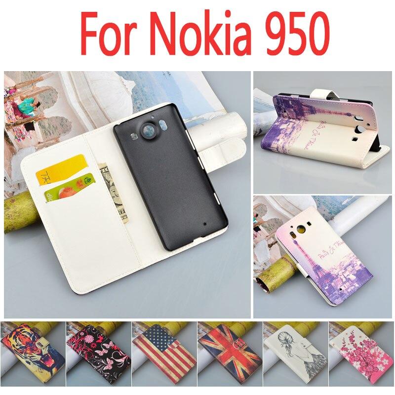 Для <font><b>Microsoft</b></font> Lumia <font><b>950</b></font> чехол PU кожа для Nokia Lumia <font><b>950</b></font> чехол бумажник подставкой телефон сумка принт с визитница