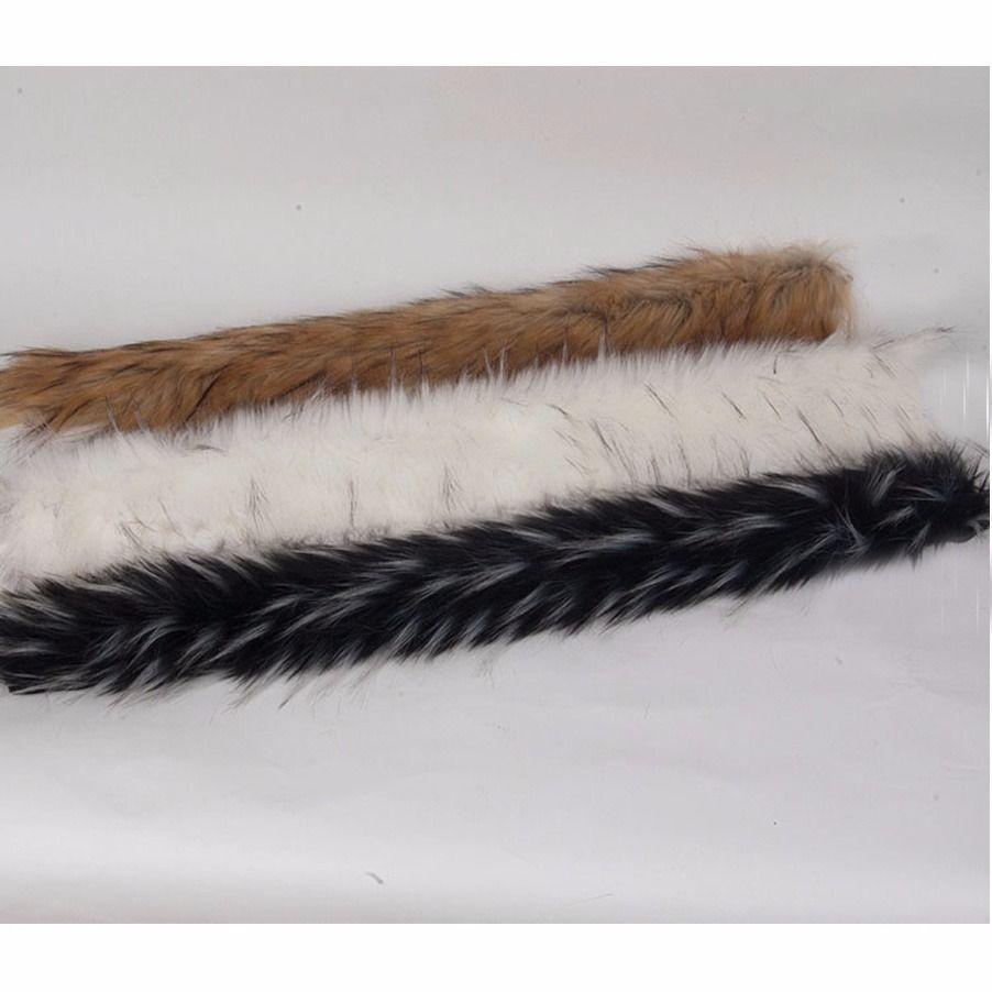 Imitación de piel de mapache Artificial recorte abrigo chaqueta ...
