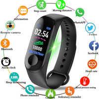 Bluetooth montres intelligentes Sport Fitness Bracelet montre hommes femmes couleur-écran fréquence cardiaque moniteur de pression artérielle horloge Pk mi bande 3