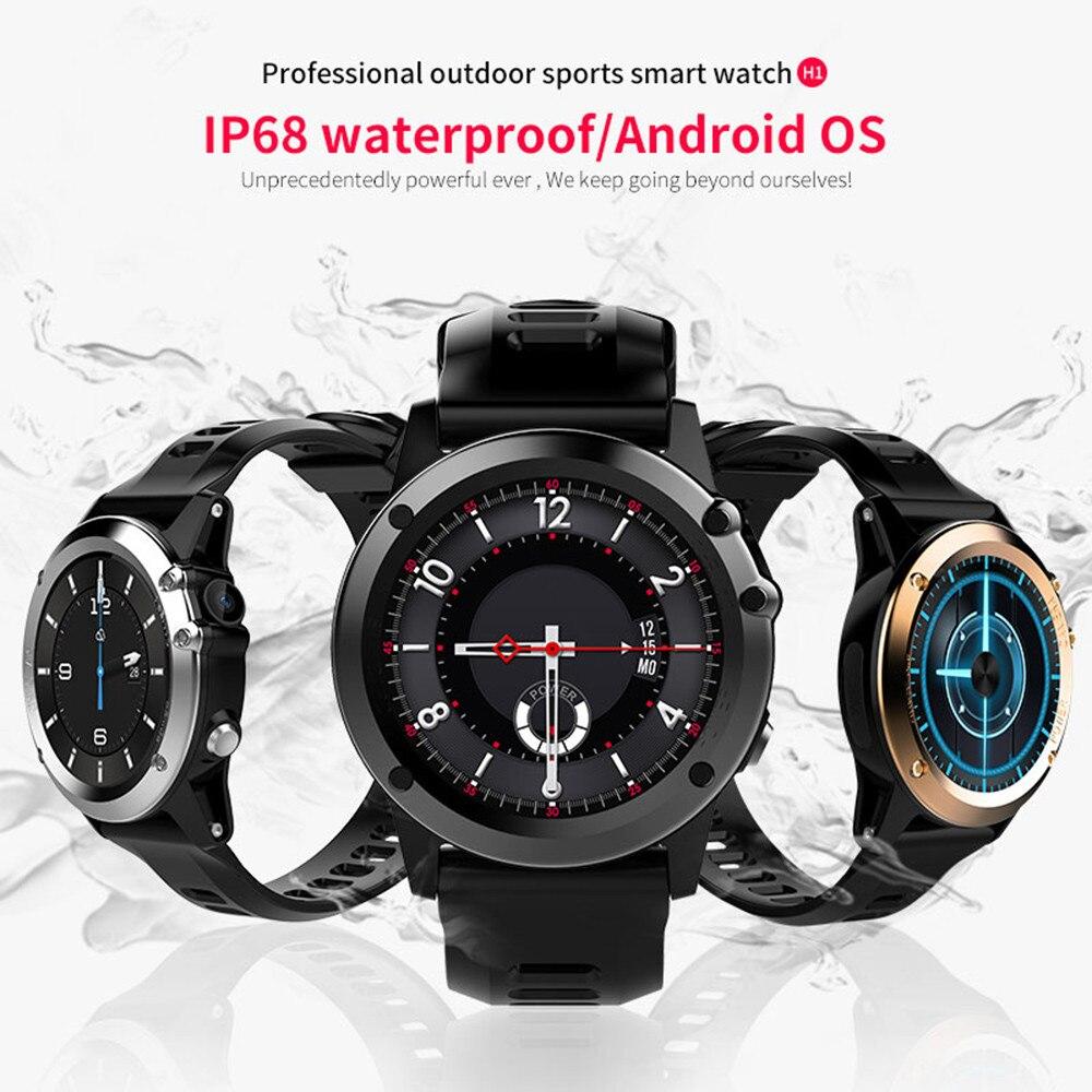 Microwear H1 3g Смарт часы-телефон видеовызова 4 ГБ IP68 Водонепроницаемый Smartwatch Android 4,4 MT6572A Dual Core Wi-Fi gps спортивные часы