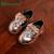 12-14 CM Baby Girl Shoes Infantil Bowtie Sapatos Criança Criança de couro PU Diamante de Cristal Brilhante Espelho Princesa Queda primavera Sapato Criança