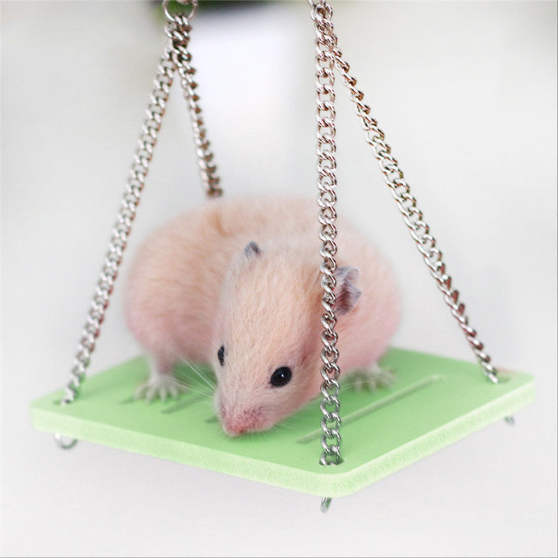 Hamster Toys Swing Hanging Gadget Wooden Cage Accessories Supplies Amuse Mouse Wooden Hamster Swing Toy Drop Shipping