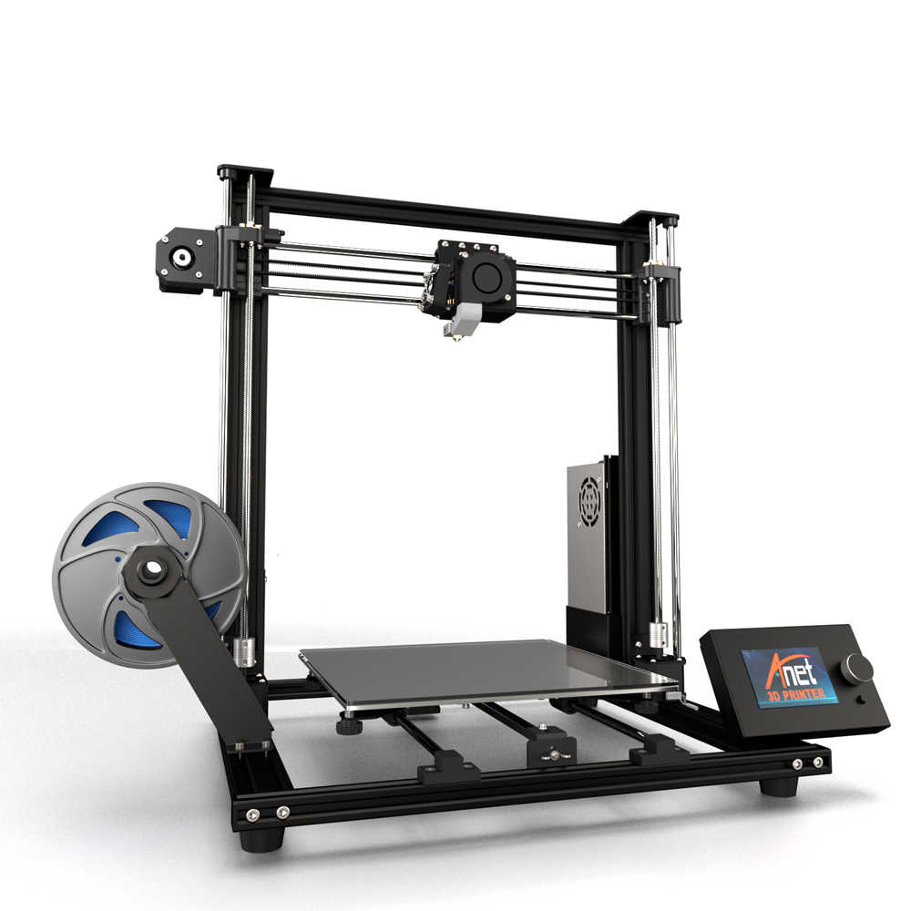 2019 Verbeterde Versie 300*300*350 Mm Impressora 3D Printer A8 Plus Anet Diy 3D Printer Kit Met micro Sd-kaart Usb Connector