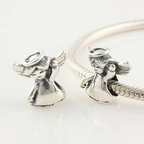 Authentic 925 Silver Beads Fits Pandora Charm Bracelet Dancing Girl Angel Bead European Charm Women Jewelry Drop Shipping