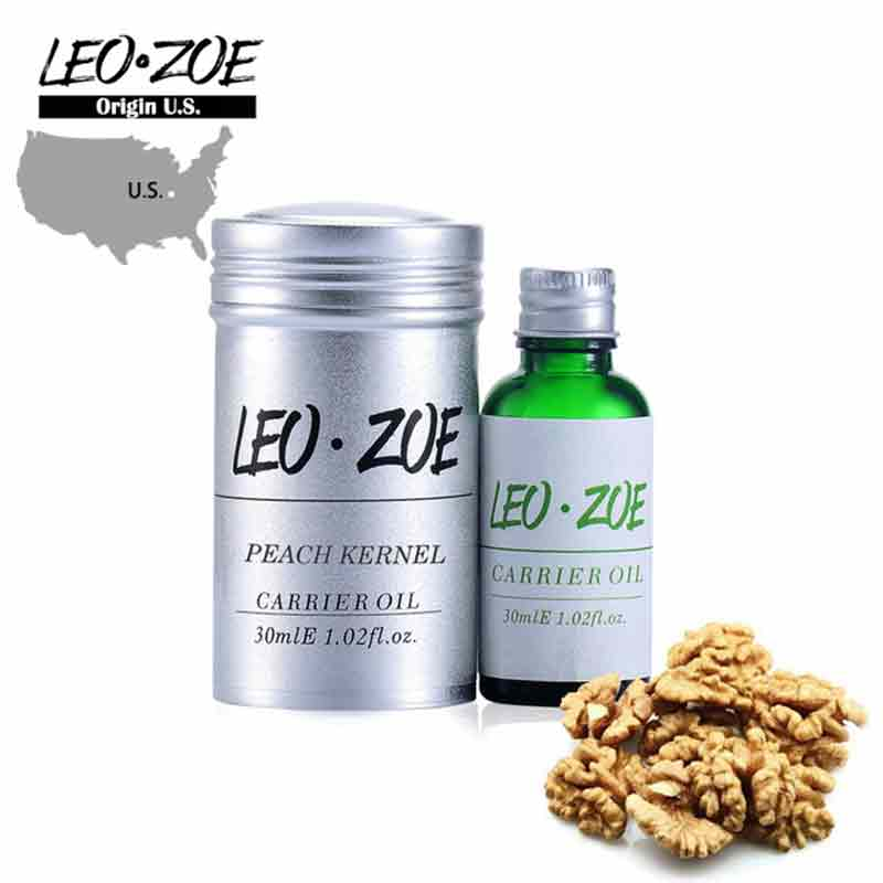 Well-Known Brand LEOZOE Pure Peach Kernel Oil Certificate Of Origin US Peach Kernel High Quality Essential Oil 30ML