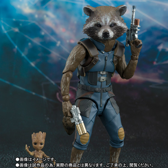 Guardians Of The Galaxy Marvel Avengers Rocket Raccoon & Baby Tree Action Figures Toys For Christmas Birthday