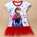 Baby Girls Summer Frozen Dress Girl Cotton Casual Tutu Dress