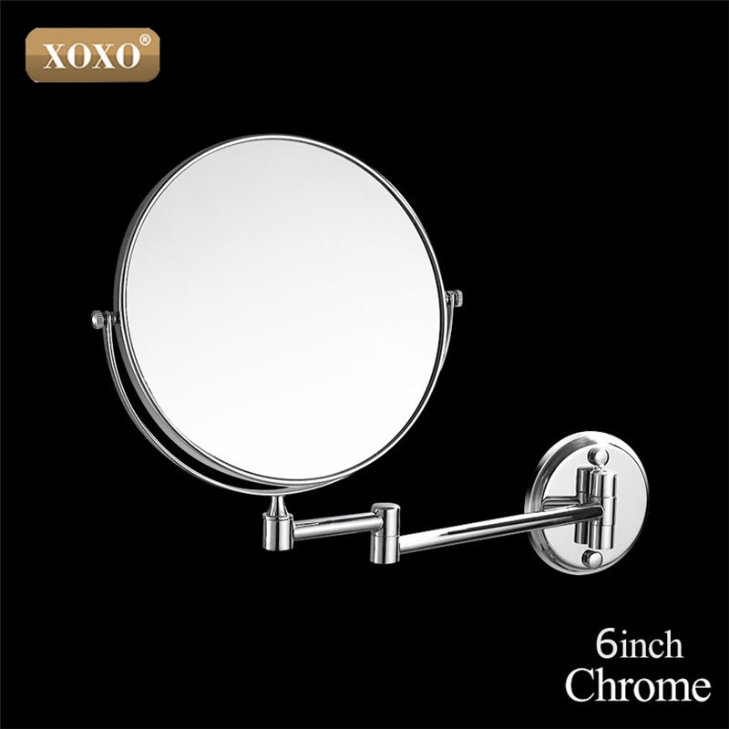 XOXO Dual Makeup mirrors 1:1 and 1:3 magnifier Copper Cosmetic Bathroom Double Faced Bath Mirror wall mirror 1016/1018/7018