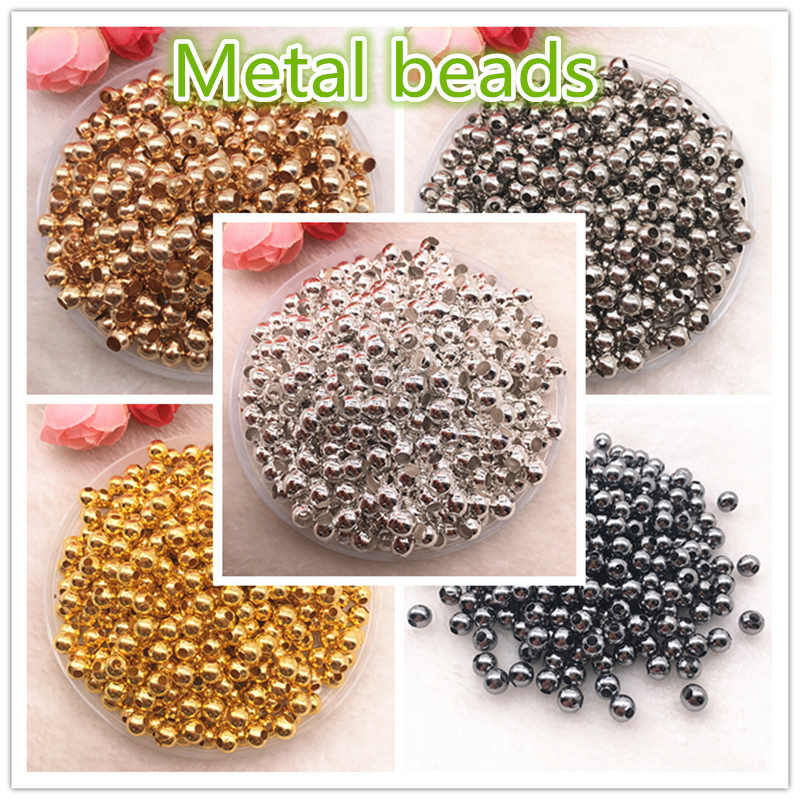 NEW 3/4/5/6/8mm Gold/Silver/Bronze/dull Silver Metal Beads Smooth Ball Spacer Beads For Jewelry Making Diy Jewelry Findings