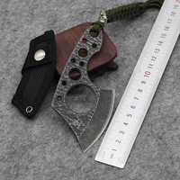 Top Small Straight Knife 3CR13MOV Steel Blade Jungle Survival Knife Steel Handle Camping Pocket Knives Edc