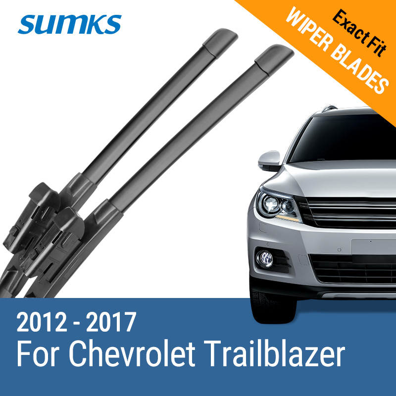 "SUMKS Wiper Blades for Chevrolet Trailblazer 22 ""& 18"" Fit Top Lock Arms 2012 2013 2014 2015 2016 2017(China)"