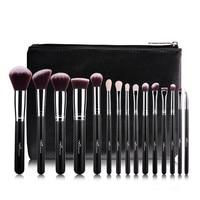 MSQ Professional 15pcs Makeup Brushes Set Powder Foundation Eyeshadow Make Up Brush Tool Soft Wool Hair