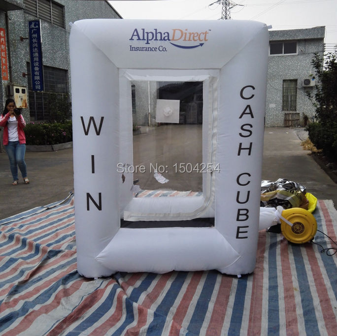 inflatable  square money machine cash machine for speed promotion,advertising logo can be customized inflatable games цена 2016