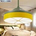 BOCHSBC Невидимый потолочный вентилятор для гостиной столовой спальни современный минималистичный скандинавский декоративный вентилятор со ...