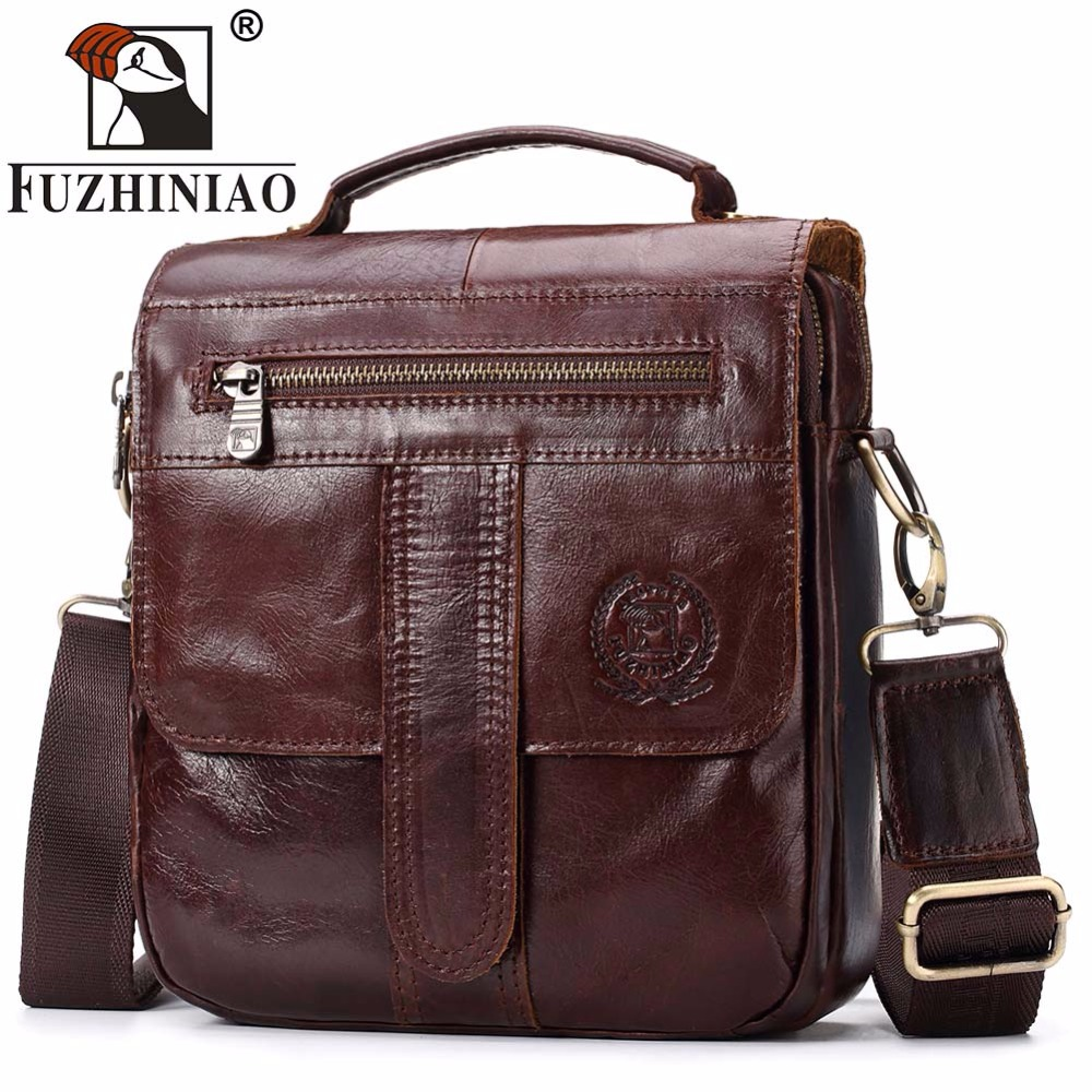 FUZHINIAO Genuine Leather Bag Fashion Men Cowhide Bags Messenger iPad Holder Male Man Casual Tote Shoulder Crossbody Handbags men crossbody bag messenger shoulder handbags cowhide genuine leather casual business satchel mens bags for male high quality