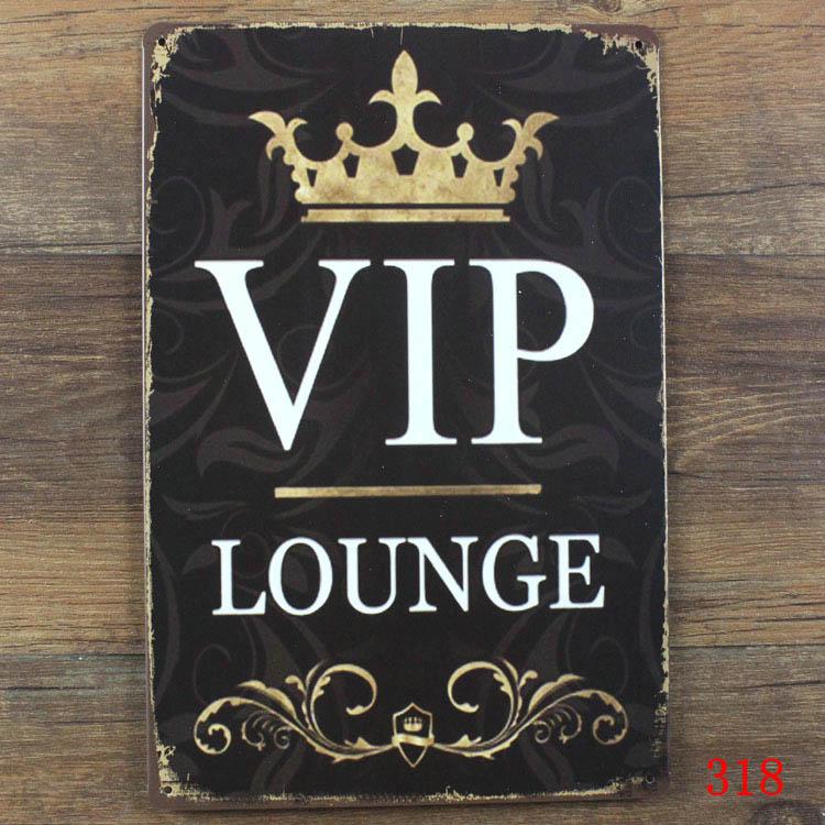 R$ 22 27 |20*30 CM Tamanho da SALA VIP Adesivo Antigo Placa De Metal Do  Vintage Poster Parede Bar House Craft-in Placas e avisos from Casa e  Animais