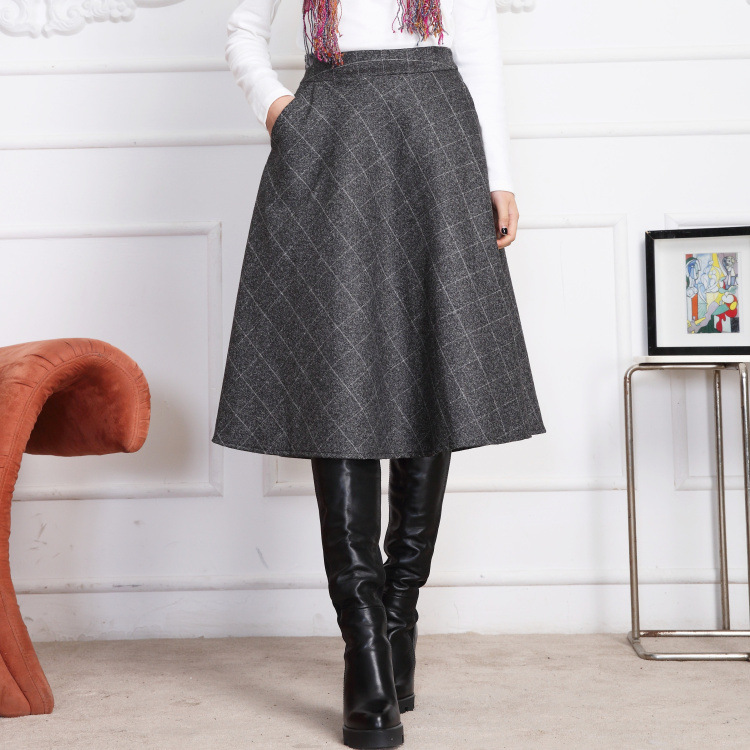 Compare Prices on Wool A Line Skirt- Online Shopping/Buy Low Price ...