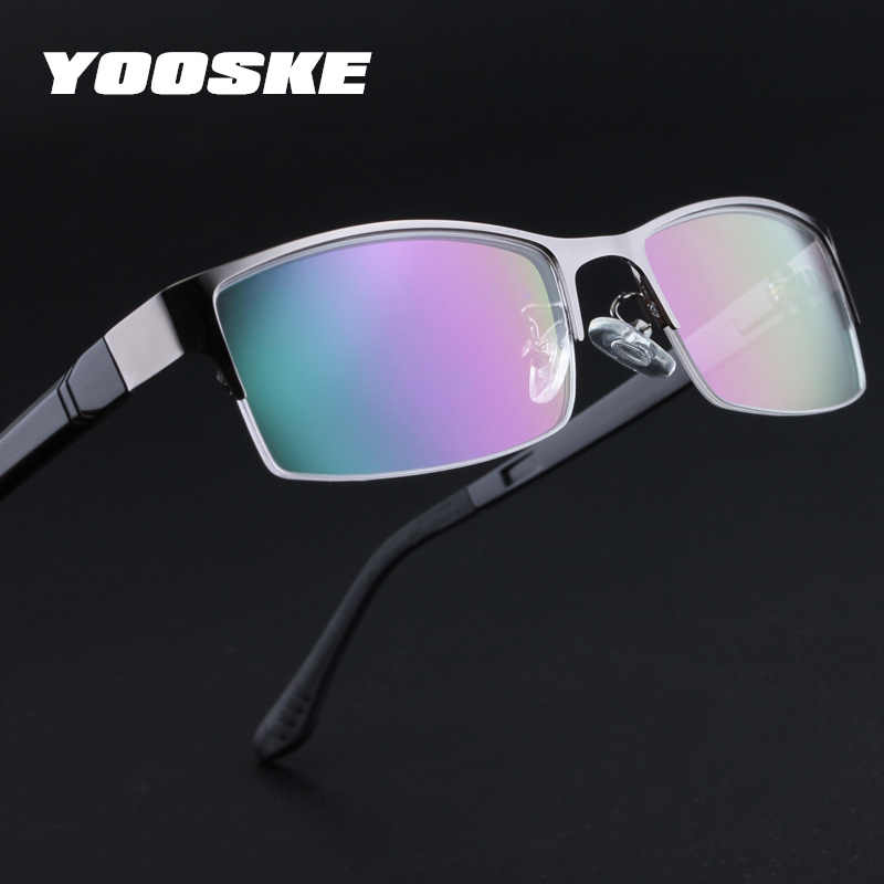 d7b5496f6e YOOSKE Brand Men Eyeglasses Frames Retro TR90 Business Glasses Frame  Optical Clear Lens Glasses Vintage Mens