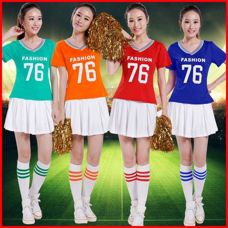 Training Cheerleaders Costume Arobic Cheer Leader Outfits Women Training Lingerie Costumes Adults Soccer Cheerleading Suit Compe