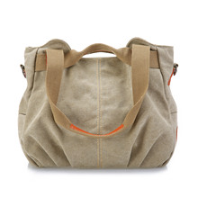 New canvas womens bag fashion shoulder hundred tide Lady portable
