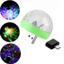 Mini USB Led Night Light Crystal Magic Ball Lamp Color Changing Lighting For Christmas Birthday Party Decoration Effect Light