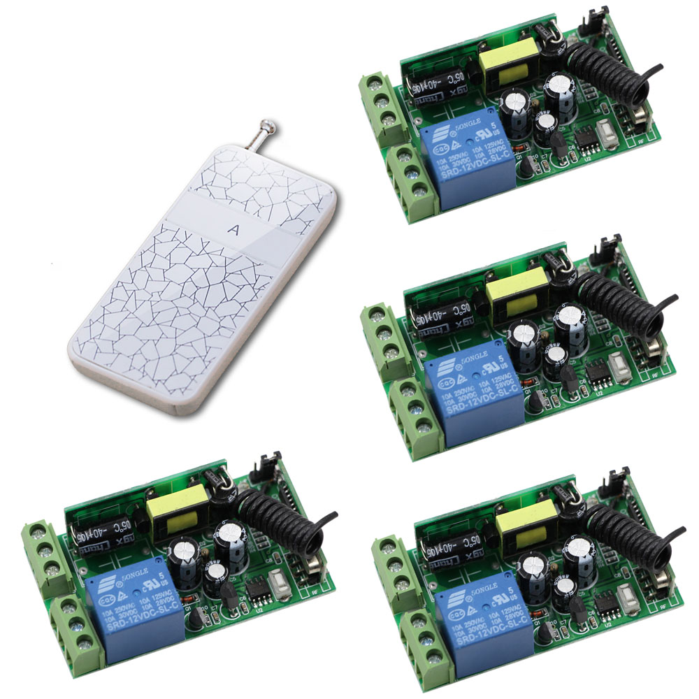 AC 85V-250V RF Remote Control Switch Relay Receiver LED Lamp Light Wireless Power Switch Remote Transmitter 315/433Mhz ac 85v 250v wireless remote control switch remote power switch 1ch relay for light lamp led bulb 3 x receiver transmitter