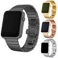 Роскошный ремешок для часов металл ремни Для Apple watch band 42 мм браслет из нержавеющей стали Ссылка 38 мм бабочка петли черный золото Серебро