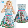 Girl Dress 2015 New Brand Baby Kids Clothes Vestidos Children Princess Party Dresses for Girls Cartoon animals, rabbit butterfly
