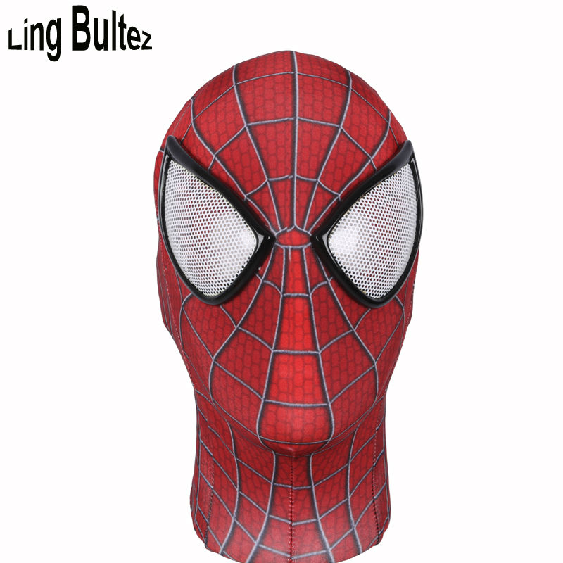Ling Bultez High Quality New Spiderman Mask With Lenses Amazing Spider Man Face Mask