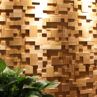 2018 1box 6pcs 30x60cm Rubber wood mosaic Creative Style Decorative Wall Panel 3D Art Pattern Wood Mosaics Floor Tiles