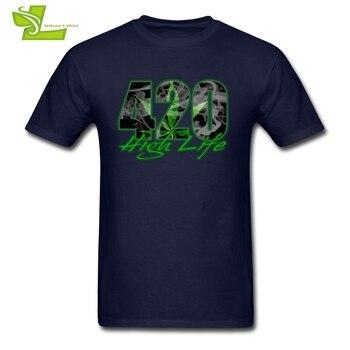 420 Hoge Leven Volwassen t-shirt Fashion Custom Made Comfortabele Tops Mannen Zomer 100% Katoen T-shirts Guys Nieuwste Unieke Kleding