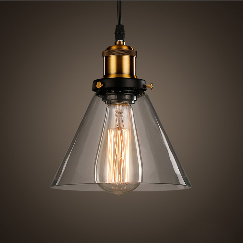New Vintage Clear Glass Pendant Light Copper Hanging Lamps E27 110/220V  Light Bulbs For Home Decor Restaurant Luminarias Abajour In Pendant Lights  From ...
