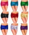 Frete grátis mulheres sexy colorido lantejoula alta cintura HOT SHORTS