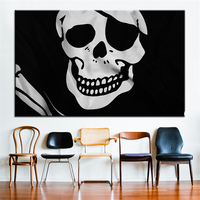 Large Size Printing Oil Painting Pirate Flag Wall Painting Decor Wall Art Picture For Living Room