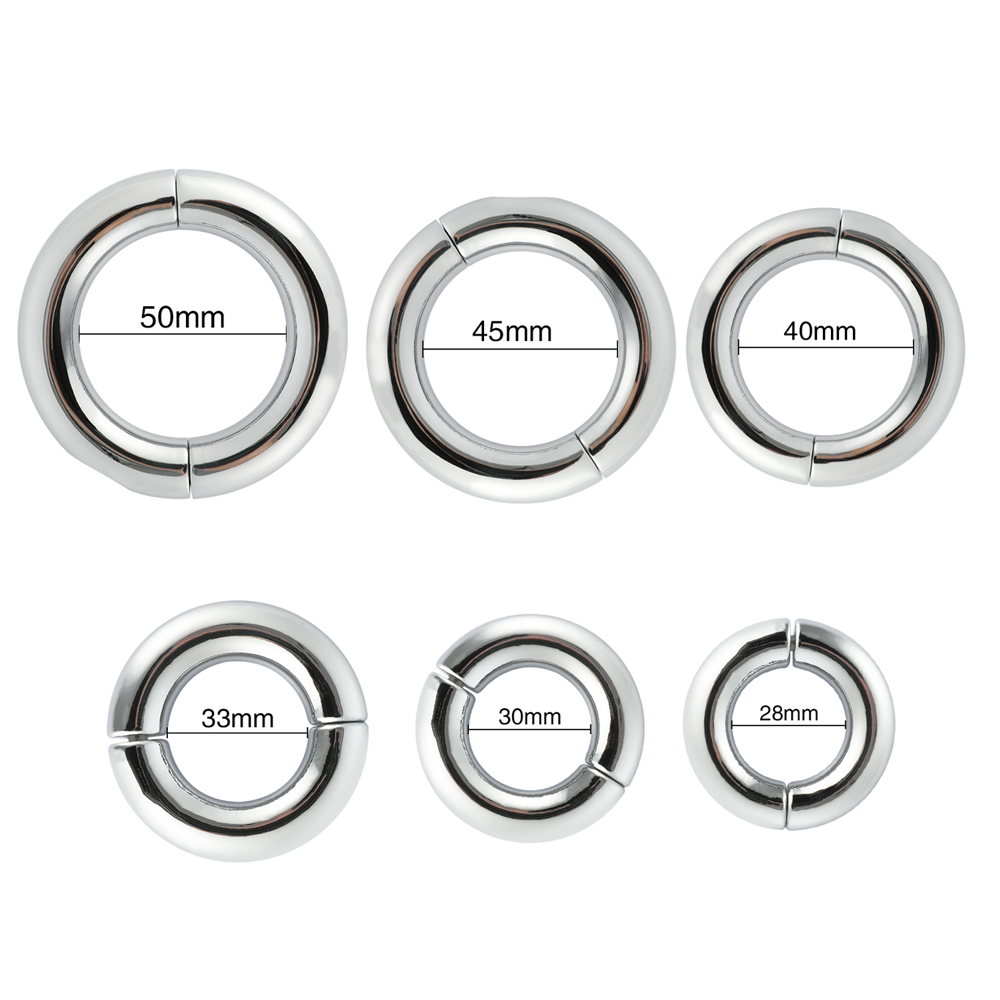Stainless Steel Penis Ring Adjustable Cock Ring Ejaculation Delay Sex Toys For Adult Men Male Lasting Firmer Erection Cockring
