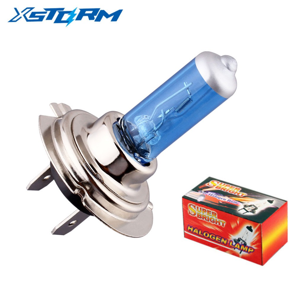 H7 55W 12V Halogen Bulb 6000K Super Bright White Fog Lights High Power Car Headlight Lamp Car Light Source Car Styling Parking