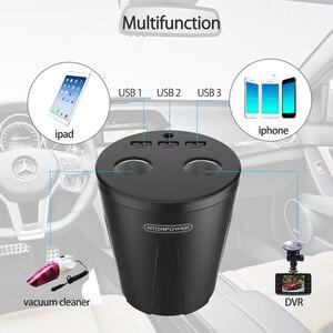 Image 5 - NTONPOWER MP 12V uscita caricatore per auto USB adattatore per accendisigari caricabatterie rapido per Smartphone/Tablet Docking per tazza multifunzione