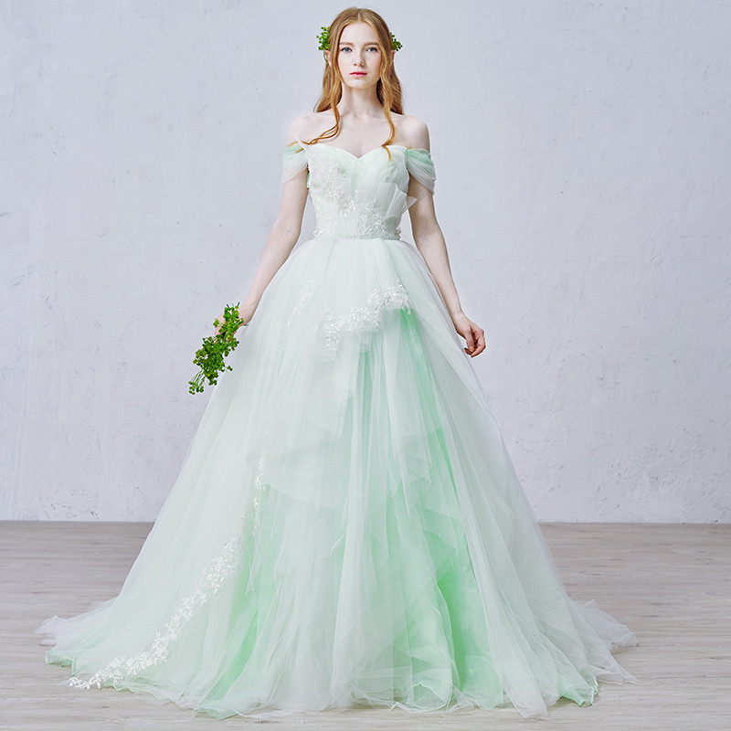 Online Buy Wholesale light green wedding dress from China light ...
